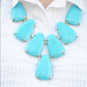 Turquoise Kendra Scott Harlow Statement Necklace